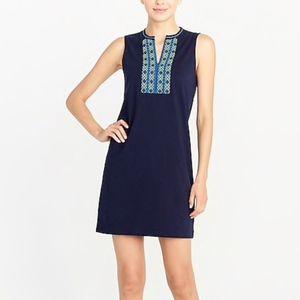 J Crew Embroidered Knit Sleeveless Tank Dress M